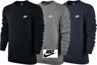 Nike Men's Fleece Club Crew Neck Sweatshirt Cotton Training Top Jacket Sports