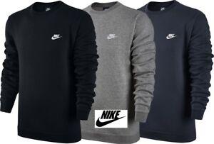 Nike Men's Fleece Club Crew Neck Sweatshirt Cotton Training Top Jacket Sports