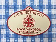 2017 - Royal Windsor Horse Show Stable Plaque Sign Aluminium Equestrian - New