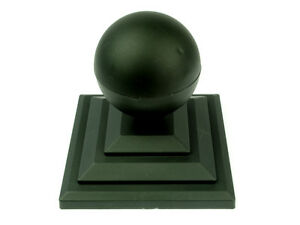 """Linic 10 x Black Sphere Round Top Fence Finial & 3"""" Fence Post Cap UK Mde GT0030"""