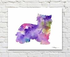 "Biewer Abstract Watercolor 11"" x 14"" Art Print by Artist Dj Rogers"
