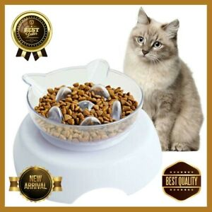 Orthopedic Cat Bowl & Slow Feeder 2-in-1 [Anti-Vomiting]