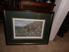 Fox Hunt Print 'Drawn Blank'  By E. G. Hester triple  mat framed large