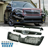 STI-Style Black Front Grille (ABS) Bumper Grill Fits 2014-2018 Subaru Forester