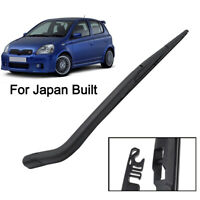 For Toyota Yaris MK1 Japan Built 99-05 Rear Windshield Wiper Blade Arm Set 12""