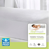 Terry Towel Waterproof Cotton Mattress Protector Fitted Sheet Bed Cover