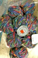 4 Skeins Dive Starship Color 6 Yarn Made In Italy Wool Blend RAINBOW