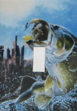 Fish Bass Single Toggle Switch plate Light Cover