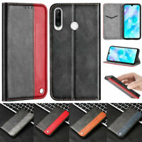 Luxury Wallet Leather Flip Folio Case Cover For Huawei P30 Lite Y6 2019 P20 Lite