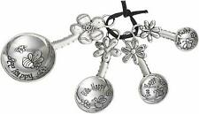 GANZ Measuring Spoons- Bee Happy  (4 pc. set) NEW in Box (ER16730)