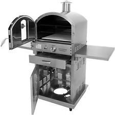 Pacific Living Outdoor Pizza Oven w/ Cart Propane PL8430SS Stainless Steel