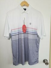 1 Nwt Greg Norman Men'S Shirt, Size: Medium, Color: White/Gray (J25)