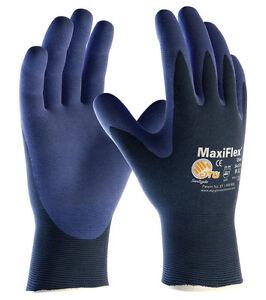 12 x MaxiFlex Elite 34-274 Nitrile Foam Work Gloves High Dexterity Lightweight