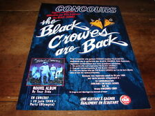 THE BLACK CROWES - PUBLICITE / ADVERT BY YOUR SIDE !!!!!