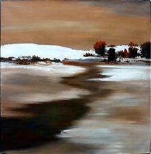 ABSTRACT landscape - Original painting - Framed - Huge: 120x120cm