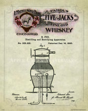 Whiskey Moonshine Still Patent Poster Art Print Vintage Alcohol Bar Beer  PAT409