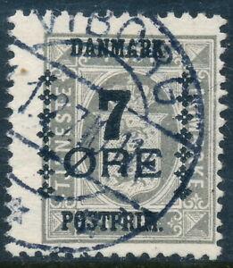 Denmark Scott 186/AFA 161, 7ø/3ø grey Provisional, F sound Used
