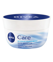 Nivea Cream For Face & Body Care Intensive Nourishment 50 100 200 ml