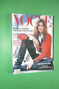VOGUE US August 1993 CINDY CRAWFORD Christy Turlington NAOMI CAMPBELL magazine