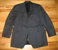 Canali Navy Blue Wool Three Button Blazer Sports Coat Made in Italy Mens Sz 56R