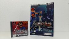 """Sony Playstation 1 Spiel """" Alundra 2 Factory Sealed """" & official Strategy Guide"""