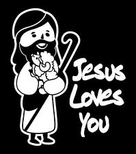 Car Decal Sticker Jesus Loves You, Christian Love