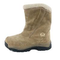 Sorel Waterfall Women's Waterproof Tan Suede Winter Snow Boot Size 8