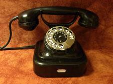 altes Telefon Bakelit W 28 SIEMENS Telephone  ORIGINAL ALU Gehäuse Top!