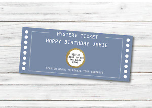 *PERSONALISED* SURPRISE gig CONCERT theatre TICKET SCRATCH CARD show