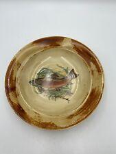 "ROBERT GORDON Pottery Australia TROUT Fish Bowl 9"" RARE #2 of 2"