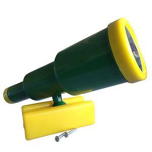 LoggyLand Teleskop Fernrohr Schwenkbar für Spielturm Spielhaus Spielbett grün