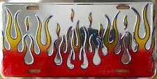 FLAMES ..Red/Yellow....Premium Embossed License Plate (LP-1109-207)