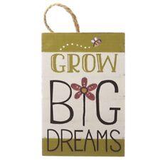 Heaven Sends 'Grow Big Dreams' Mini Plaque Wall Art Sign NEW