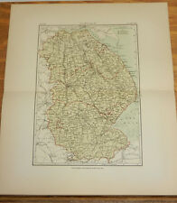 1881 Antique COLOR Map/LINCOLN, ENGLAND
