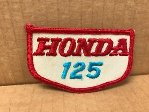 "VINTAGE ORIGINAL 1970'S EMBROIDERED HONDA 125 JACKET PATCH 3.5"" X 2"""