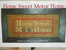 HOME SWEET MOTOR HOME Cross Stitch Pattern - NEW IN PACKAGE-REALLY CUTE!