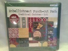 COLORBOK Red & Green Christmas Scrapbook Kit 12x12 Album Paper Embellishment NIP
