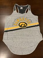 Women's NCAA Iowa Hawkeyes Graphic Tank Top By Creative Apparel Size L Gray
