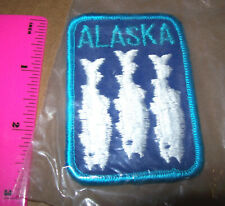 Embroidered Alaska Patch - 3 white fish, Zombie fish, Salmon hanging to dry...