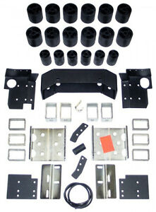 "DAYSTAR 3"" BODY LIFT KIT,BLOCKS,BUMPER STRAPS,BRACKETS,FITS 04-09 NISSAN TITAN"