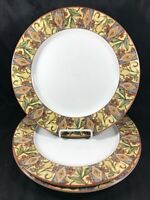 "Set of 3 Royal Doulton Everyday CINNABAR Mosaic 11"" Dinner Plates"