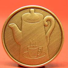 SOBRIETY COFFEE POT BRONZE CHIP-MEDALLION
