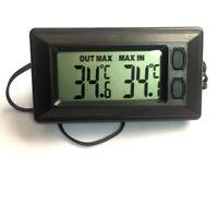 Car Interior Digital LCD Display Temperature Meter Thermometer Mini Black AU