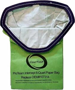 ProTeam 6 Qt Backpack Vacuum Cleaner Bags 107314 Commercial ProVac FS 6 GoFree