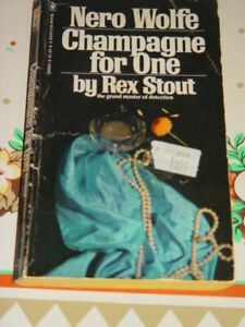 Nero Wolfe Champagne For One By Rex Stout 1975 5th Printing Mystery