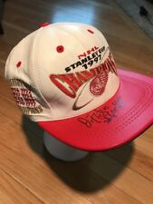 VTG DARREN MCCARTY SIGNED DETROIT RED WINGS 1997 STANLEY CUP MODERN LEATHER HAT