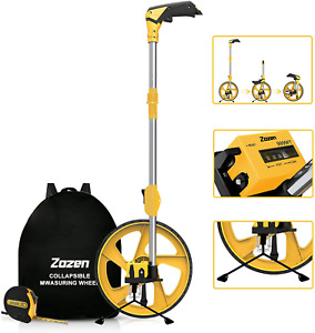Distance Measuring Wheel In Feet And Inches, Collapsible Measure Wheel