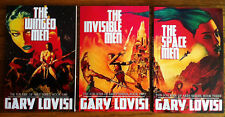 JON KIRK OF ARES TRILOGY by Gary Lovisi, all 3 US pulp sci-fi ERB type trade pbs