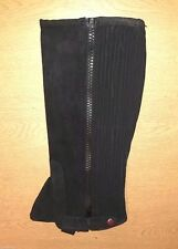 New Horse Riding Adult  ** suede leather ** half chaps - Large  (Black) on offer