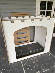 Cubby Toddler Bed handmade wood panel Cot Sized Floor Bed
